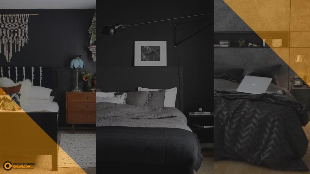Como decorar um quarto com móveis escuros