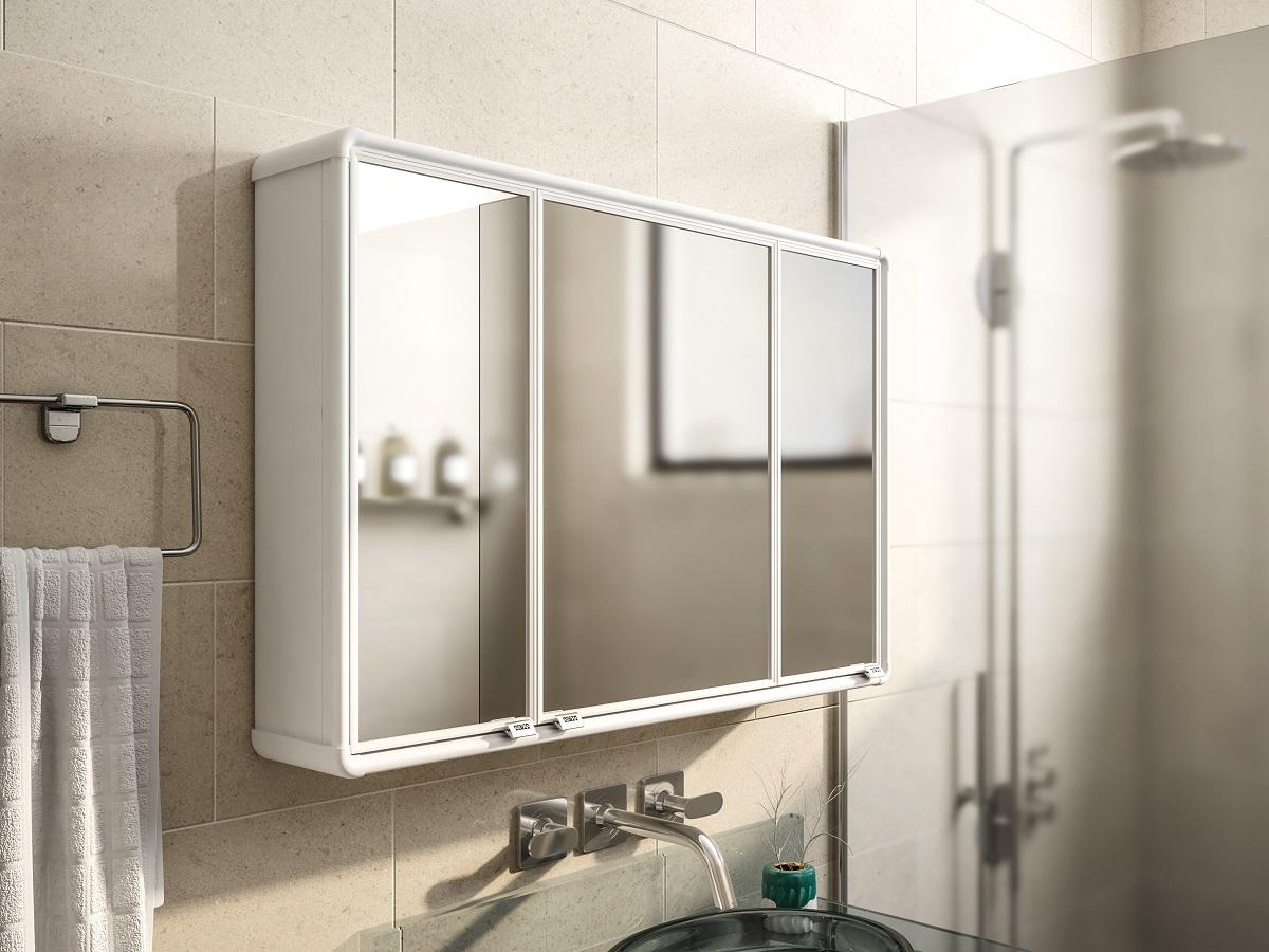Banheiro - Armário e espelho - Modelo 03
