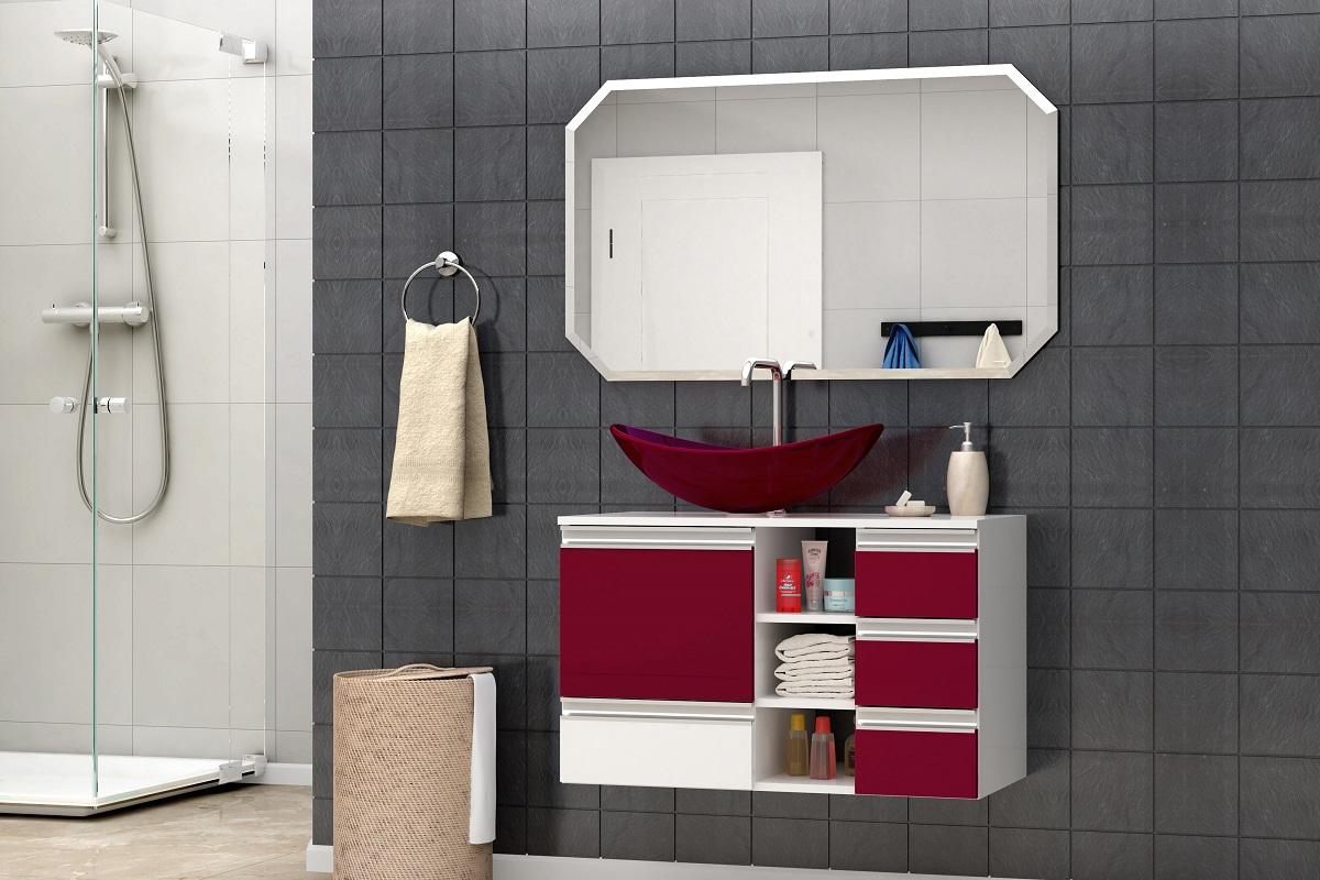 Banheiro - Pia e Gabinete - Modelo 01