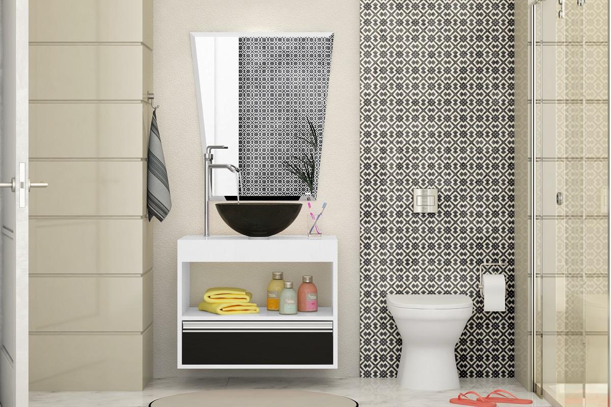 Banheiro - Pia e Gabinete - Modelo 02