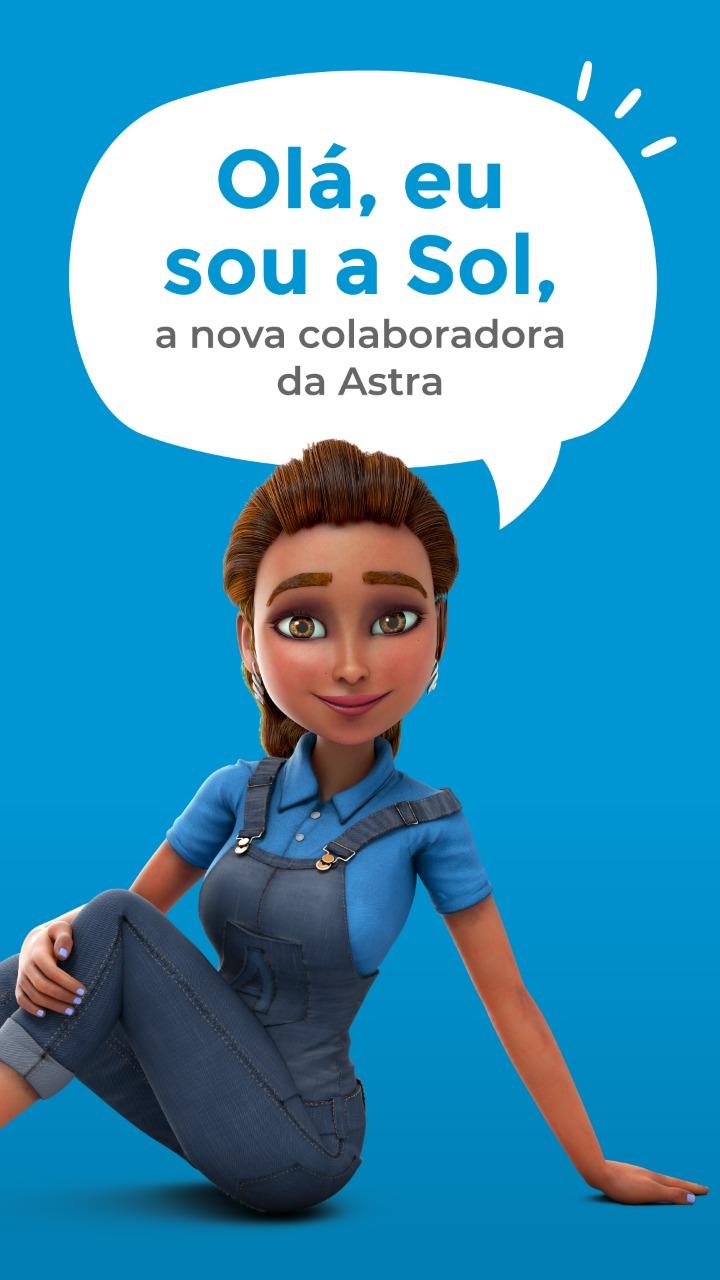 APRESENTA SUA NOVA PROMOTORA DE VENDAS: SOL Personagem virtual