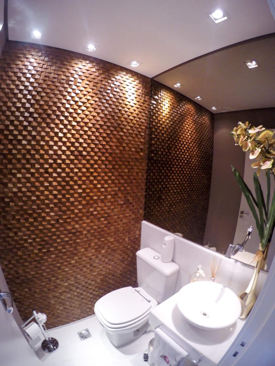 Projeto feito pelo escritório Painel Arquitetos Associados para um banheiro moderno. Divulgação - Painel Arquitetos Associados