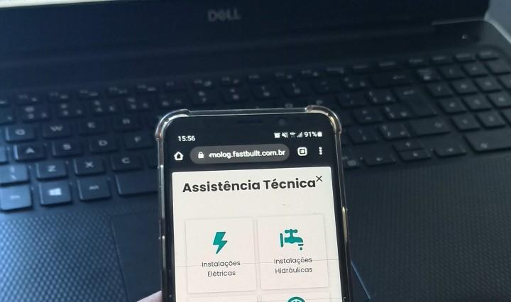 Assistência técnica online é novidade da FastBuilt - Divulgação