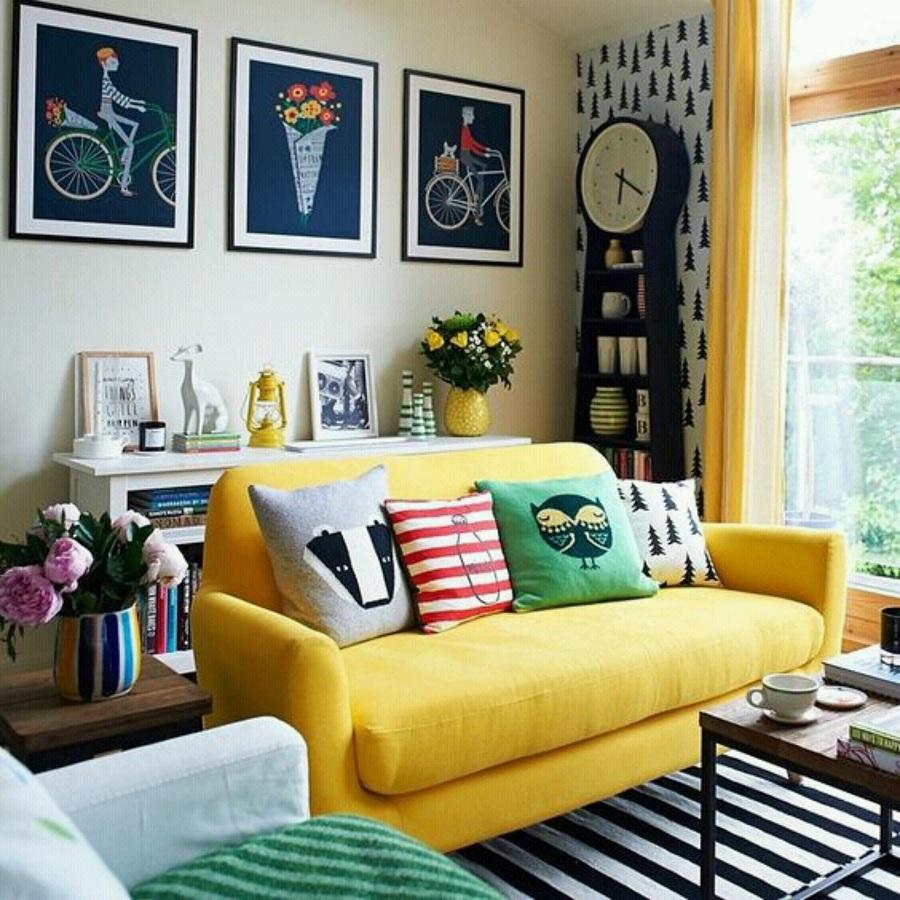 3- Decoração para sala de apartamento simples- Foto: Pinterest