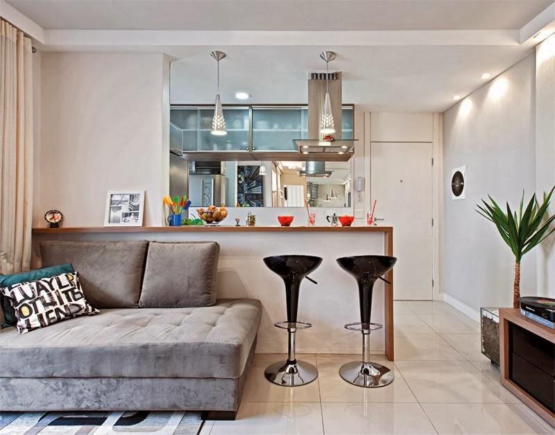 2- Apartamento simples decorado. Fonte: Euamodecoração
