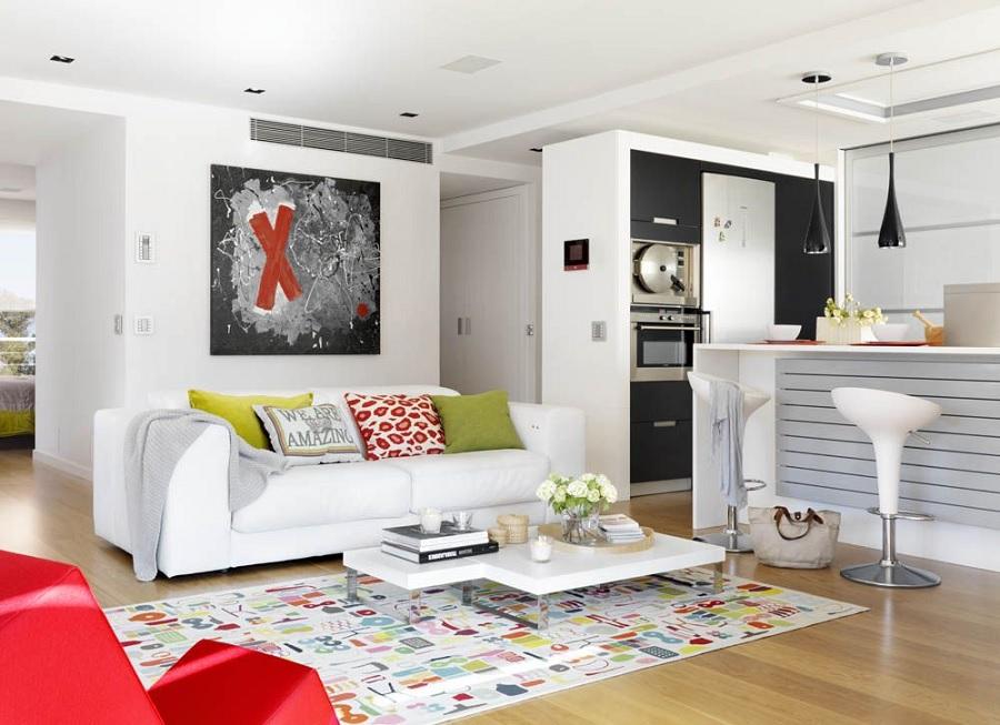 5- Decoração de apartamento simples. Foto: Decoração de apartamentos