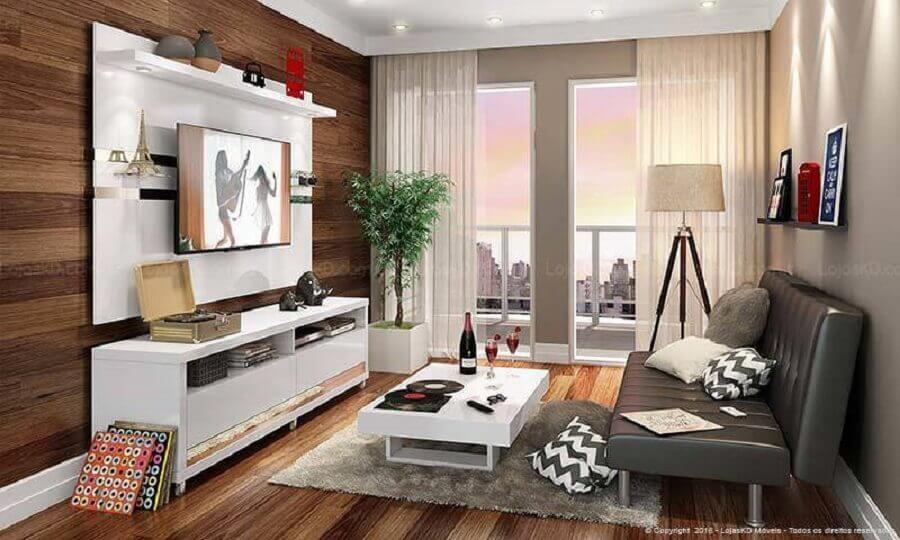 1- Decoração de apartamento pequeno. Fonte: Lojas Kd