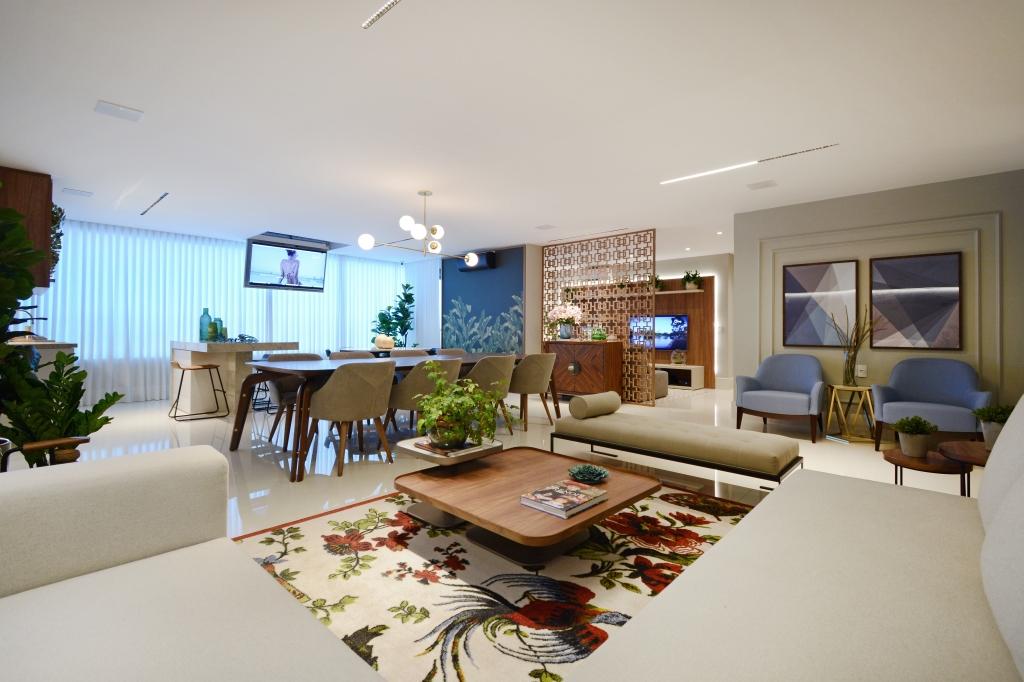Varanda do decorado do Reserva Newest foi totalmente integrada à sala pela arquiteta Anna Paula Melo - Marcus Camargo